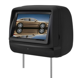 high quality headrest touch screen dvd player with FM speaker and wireless games