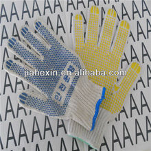 Humanization thoughtful design dot cotton gloves safety gloves are made in China