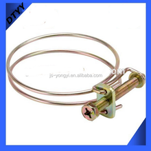 Electrical Wire Connectors with 35-40mm Carbon Steel Double Wire Hose Clamp
