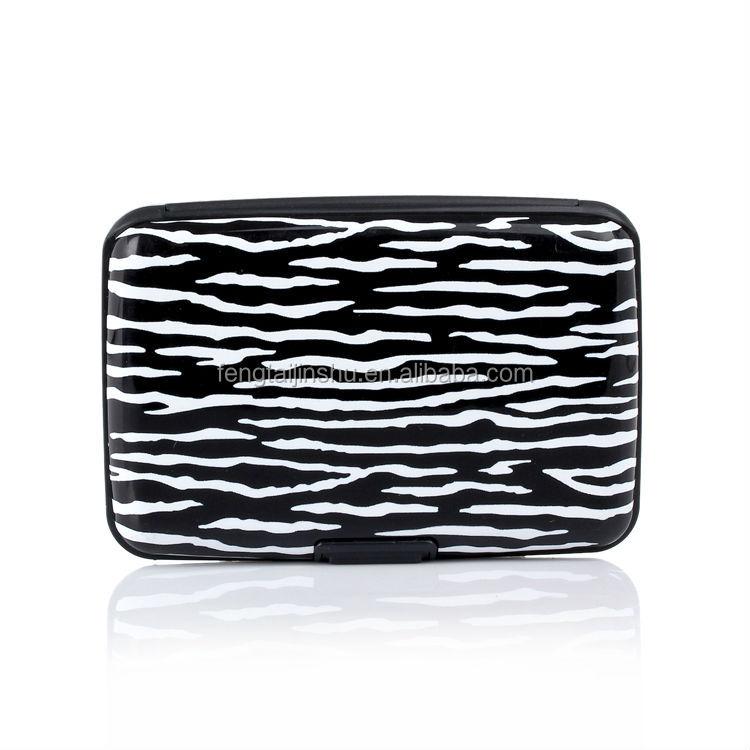 NEW Aluminum RFID Blocking ID Credit Card Wallet Holder Mini Pocket Case Box USA