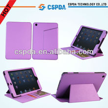 New Magnetic Book Style Purple PU Leather Folio Stand Case Cover For iPad Mini