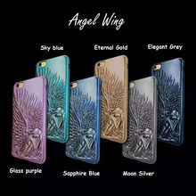 Fashion Cute Cool 3D angel wings case TPU Plastic back Cover Case for iPhone 6/6 Plus