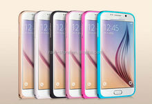 New arrival bumper rim case for samsung galaxy S6 metal frame cover case for G9200