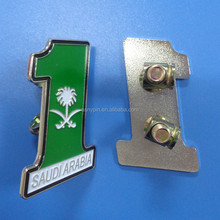 Saudi Arabia national day badge with screw on back