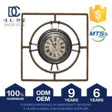 New Pattern Fashionable Super Quality Design Paper Antique Gold Leaf Clock
