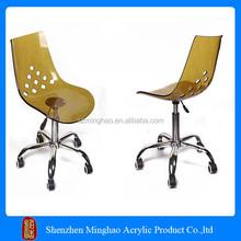 Fashion design Custom clear acrylic swivel chair