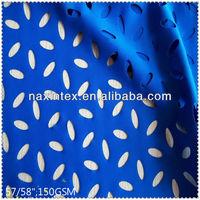nylon/sandex knitted laser eyelet jersey fabric