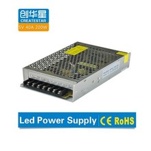 CE RoHS 5v 40a led light driver led switching power supply