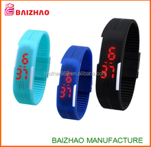 2015 new product Fashion Colorful Candy led watch Silicon Digital LED Bracelet Wrist Watch Women Girl Boy