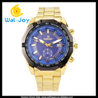 WJ-4421 Luxury big dial high quality charming RQMAND men gold alloy business watches