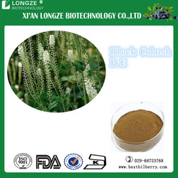 High- quality Black Cohosh Extract with Triterpene Glycosides 2.5%,5%,8%for Antibacteria and Anticancer