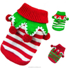 Pet Sweater Dog Clothes Christmas Stripe Halloween Costume Pet Puppy Cat Apparel