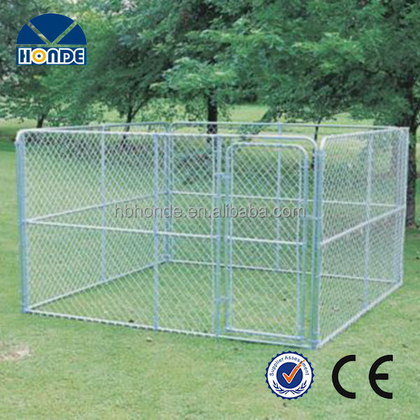 2014 new design high quality unique iron fence cheap chain link dog kennel
