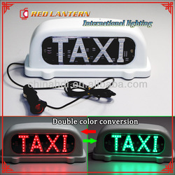 Double color taxi top lights