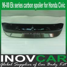 96-00 EK series carbon rear wind spoiler, CF ek automobile spoiler for HONDA CIVIC rear roof spoiler