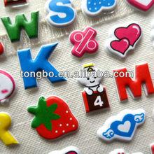 OEM Waterproof Handmade Paper ABC Sticker