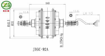 JB-JBGC-92A reduction gear for electric high power 24v waterproofdc motor