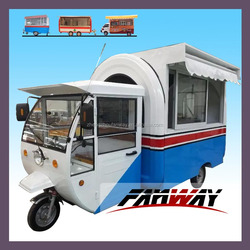 Mobile Electric Food Vehicle With Three Wheels