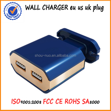 Dual USB Wall charger adapter,Mini wall charger usb,Micro usb wall charger for iphone