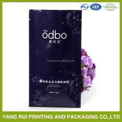Competitive price aluminum foil plastic packaging/custom made facial mask bag