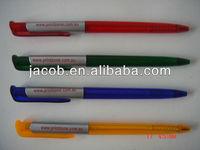 cheap price hot sale slim plastic Ball pen print custom logo1000pcs free shipping