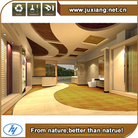 Friendly environmental and water proof wood and plastic composite decorative profiles wpc indoor flooring
