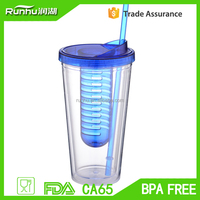 best product 2015 juice canned drink plastic cups with lid and straw