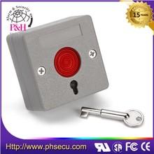 Puerta de acceso empuje interruptor de restablecimiento botón