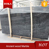 The Ancient Wood Grain Black Marble with White Veins