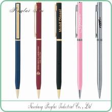 2015 Factory price promotional cheap metal slim hotel used cross twist hotel pen