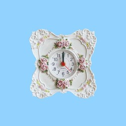 Retro Style Rose Flower Home Decor Design Wall Clock