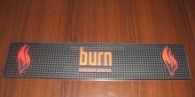 black bar mat custom logo big rubber bar mat