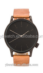 leather watch manufacturer 316L Stainless Steel manufacturing export oem watch pron movies with high quality