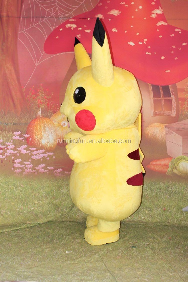 Belle CE pikachu mascotte costumes, utilisé pokemon costumes de mascotte à vendre