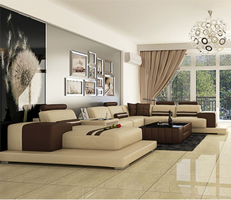 Dise o moderno en forma de u de buena calidad muebles de - Sofas de buena calidad ...
