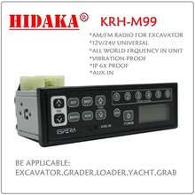 2015 HS 85272100Radio control excavator heavy-duty car radio Ex-factory price KRH-M99 car radio with mp3 player have AUX-IN slot