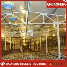 big span strong insulation capability sliding door design automatic poultry cage