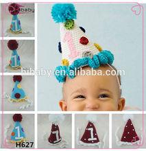 h627 bebé tejer a mano sombrero de fiesta de cumpleaños de regalo de navidad sombrero de proveedores en china