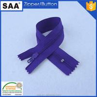 3# nylon zipper with cord close end fashion puller on the back for shoes
