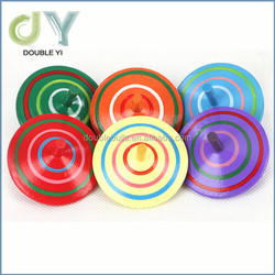 Funny Traditional Educational Wooden Mini Gyro Spinning Top Toys , high quality child top toys for Kids Children