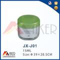JX-J01 15ml transparente como el frasco con tapa verde