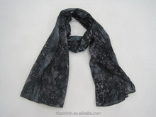 Gorgeous Women's Spring Long Soft Voile Flower Patchwork pattern Scarf Shawl