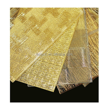 N457 Brown Glass Art, Woven Metal Textiles Laminated in Glass, Building Decor Laminated Glass Art Wholesale