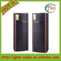 2015 alibaba nueva de madera profesional doble woofer altavoz con malla de hierro Gem-60073
