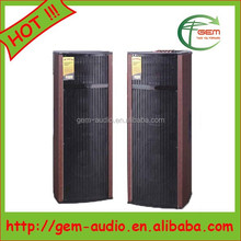 2015 alibaba new professional wooden dual woofer speaker with iron mesh Gem-60073