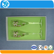 custom design flat pack plastic velvet gift box