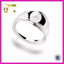 New design wholesale elegant pearl fashion ring for girl