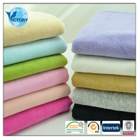 55% Cotton And 45% Polyester CVC Velour Fabrics For Casual Clothes