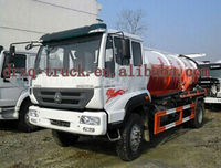 hot sale factory price vacuum truck hose jmc high pressure water jet sewer cleaning machine vacuum road sweeper truck