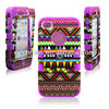 Ethnic design silicone combined cover for iphone 4 mobile phone cover